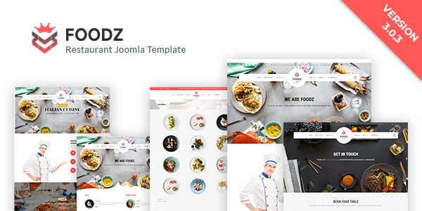 Introducing Foodz 3.0.3 - Restaurant Joomla Template